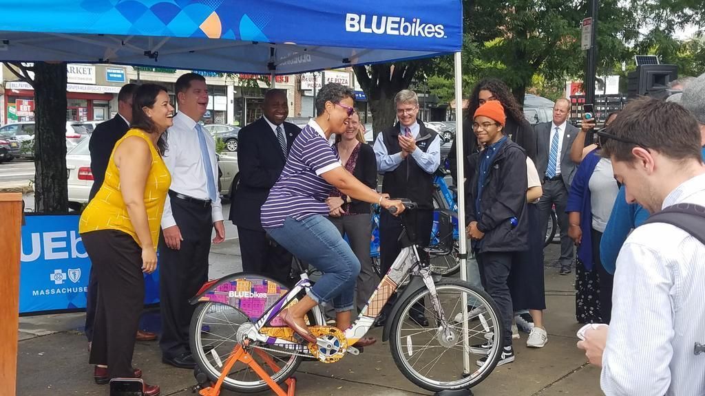 Bluebikes Launch On Mattapan Bike  Mattapan Sq  Sept 2018