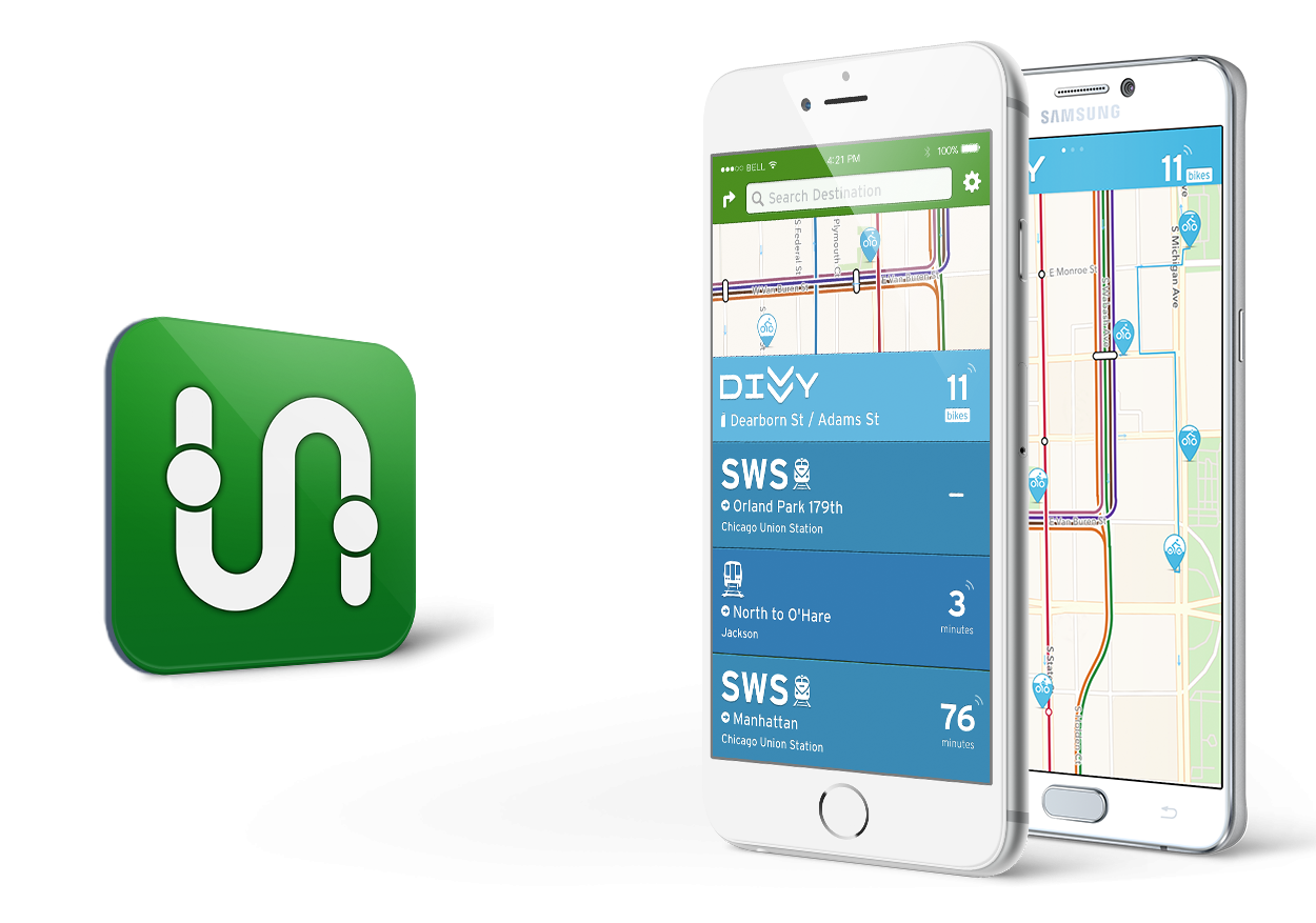 Go Mobile With Transit App Divvy Bikes - Chicago map app