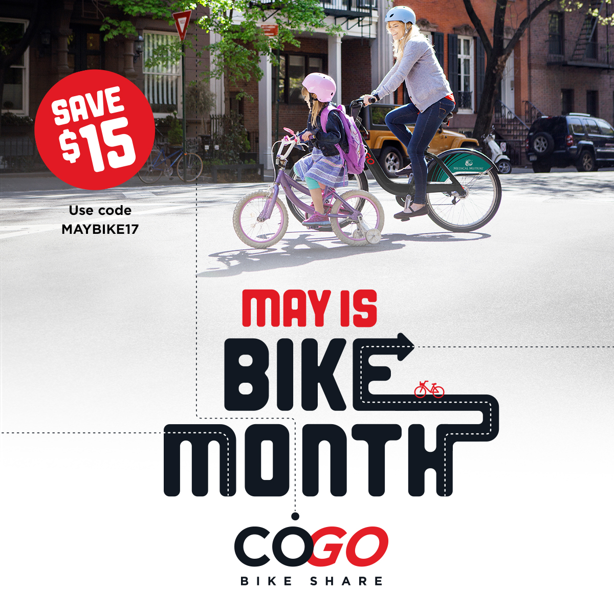 Cogo Bike Month Social Media