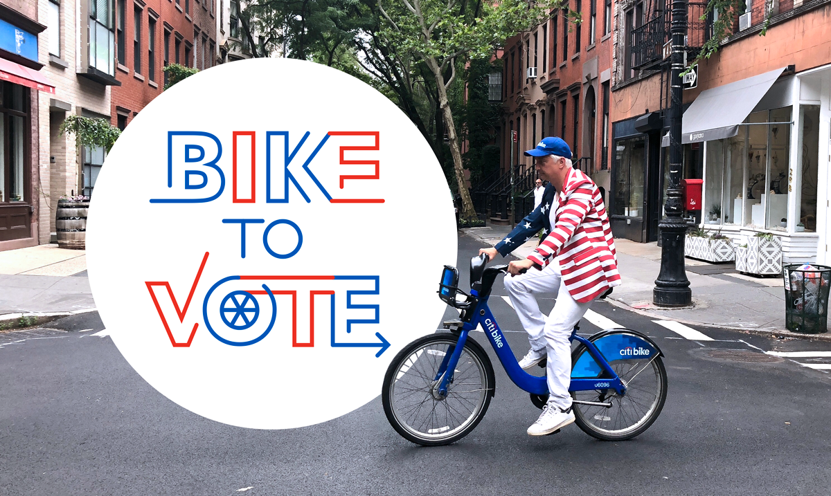 Bike To Vote Graphic Nyc