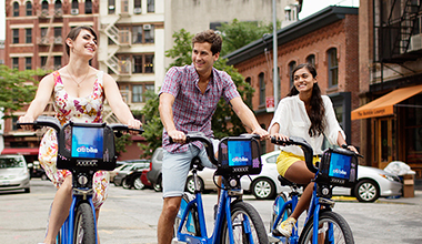 Group Riding Citi Bikes No Helmet