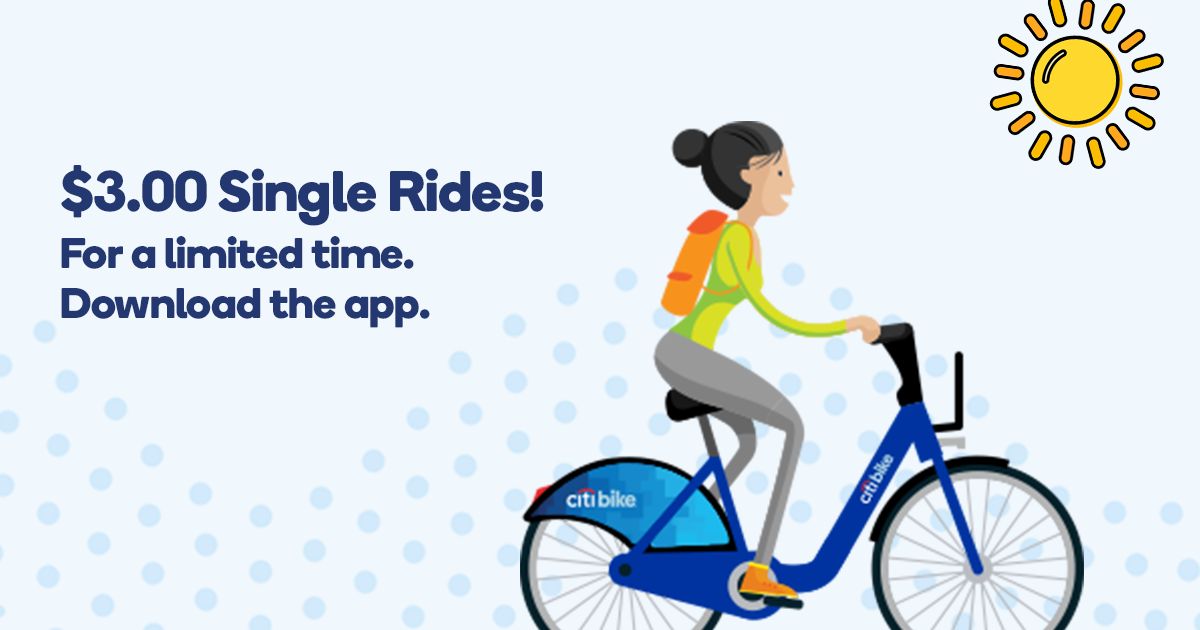 Limited Time Offer 300 Single Ride Citi Bike Nyc